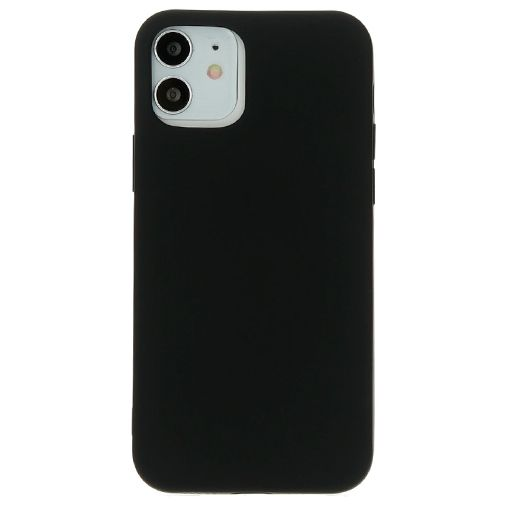 Productafbeelding van de Mobiparts Siliconen Back Cover Zwart Apple iPhone 12/12 Pro