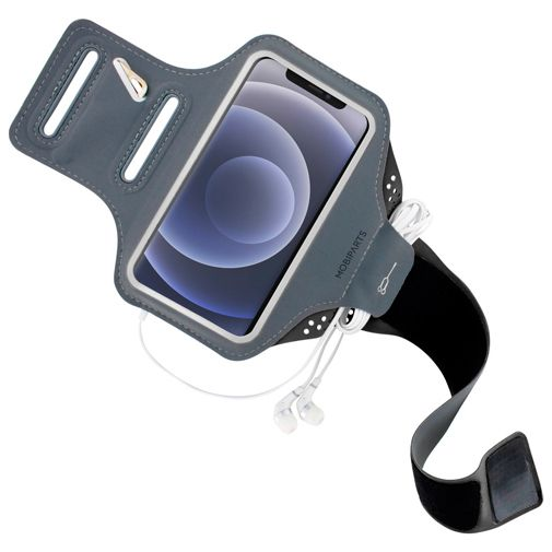 Productafbeelding van de Mobiparts Sportarmband Zwart Apple iPhone 12/12 Pro