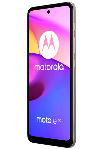 Product image of the Motorola Moto e40 Pink