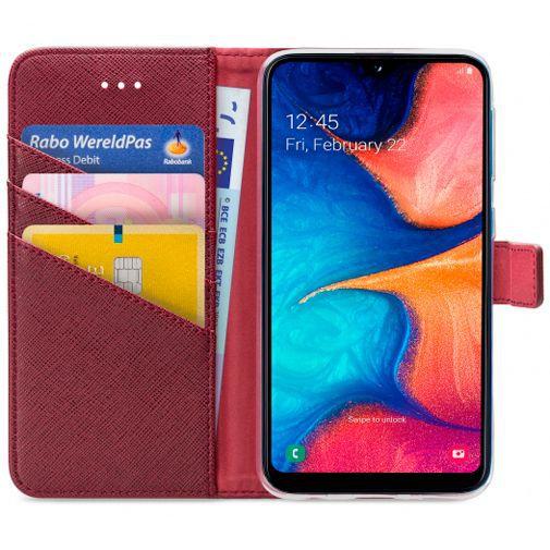 Productafbeelding van de My Style Flex Wallet Case Bordeaux Samsung Galaxy A20e