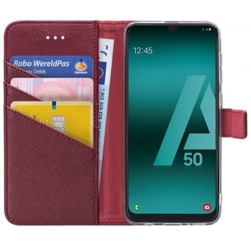 Productafbeelding van de My Style Flex Wallet Case Bordeaux Samsung Galaxy A30s/A50