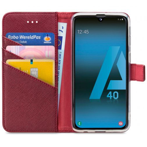 Productafbeelding van de My Style Flex Wallet Case Bordeaux Samsung Galaxy A40