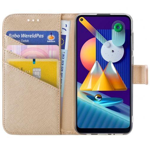 Productafbeelding van de My Style PU-leer Book Case Goud Samsung Galaxy M11