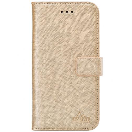 Productafbeelding van de My Style PU-leer Book Case Goud Samsung Galaxy S21