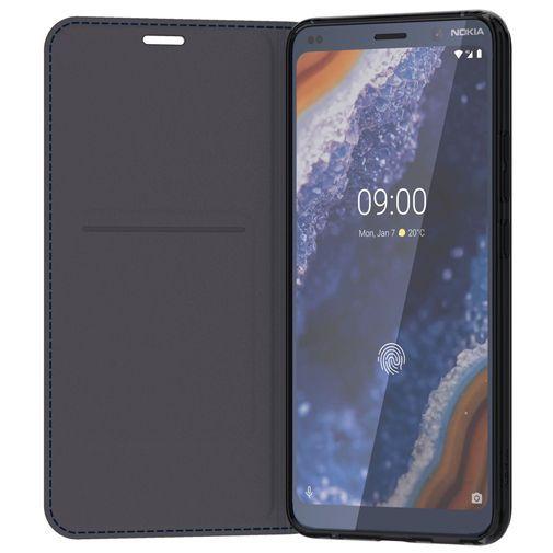 Productafbeelding van de Nokia Leather Flip Cover Blue Nokia 9 PureView