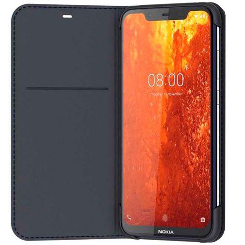 Productafbeelding van de Nokia Slim Flip Case Blue Nokia 8.1