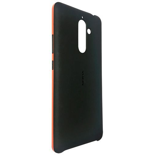 Produktimage des Nokia Soft Touch Back Cover Schwarz Nokia 7 Plus
