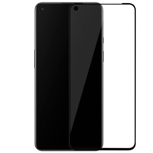 Productafbeelding van de OnePlus 3D Gehard Glas Edge To Edge Screenprotector Zwart OnePlus 9