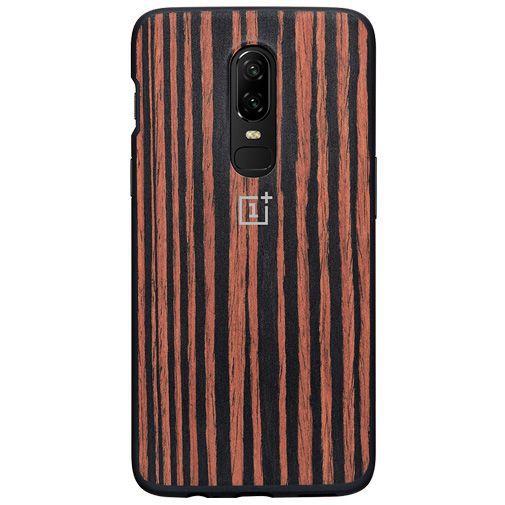 Productafbeelding van de OnePlus Bumper Case Ebony Wood OnePlus 6