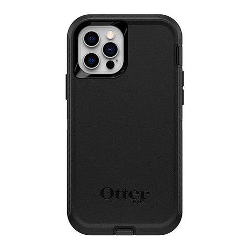 Productafbeelding van de Otterbox Defender Kunststof Back Cover Zwart Apple iPhone 12/12 Pro