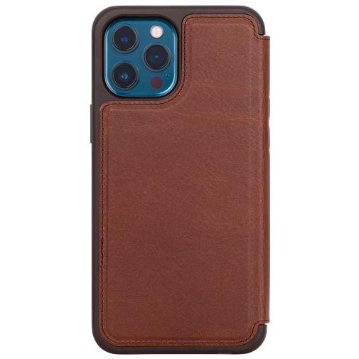 Productafbeelding van de Otterbox Strada Leren Book Case Bruin Apple iPhone 12 Pro Max