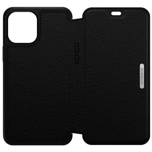 Productafbeelding van de Otterbox Strada Leren Book Case Zwart Apple iPhone 12 Pro Max