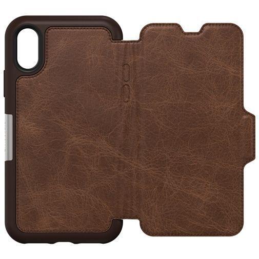 Productafbeelding van de Otterbox Strada Folio Case Brown Apple iPhone XS Max