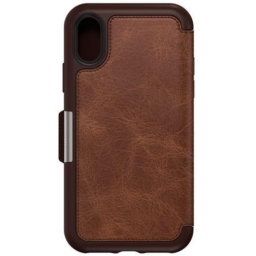 Productafbeelding van de Otterbox Strada Folio Case Brown Apple iPhone XS
