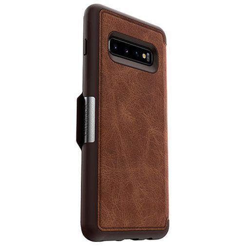 Productafbeelding van de Otterbox Strada Folio Case Brown Samsung Galaxy S10+