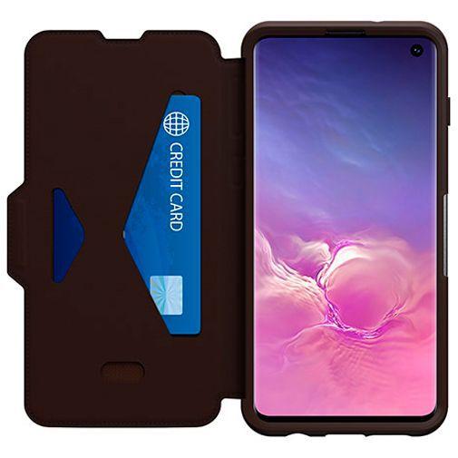 Productafbeelding van de Otterbox Strada Folio Case Brown Samsung Galaxy S10