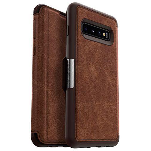 Produktimage des Otterbox Strada Folio Schutzhülle Braun Samsung Galaxy S10