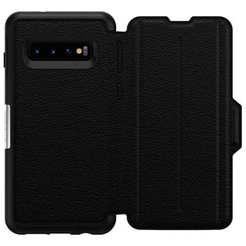 Productafbeelding van de Otterbox Strada Folio Case Black Samsung Galaxy S10