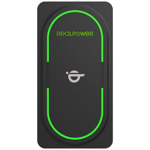 Productafbeelding van de RealPower PB-10000 USB-C Draadloze Snellader Powerbank 10.000mAh Zwart