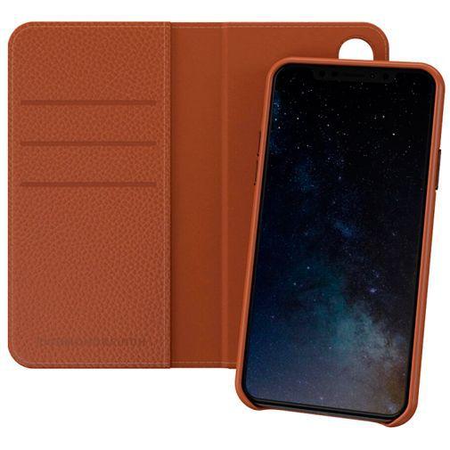 Produktimage des Richmond & Finch 2-in-1 Wallet Case Braun Apple iPhone X/XS