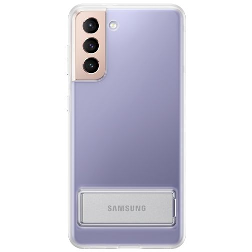 Productafbeelding van de Samsung Clear Standing TPU Back Cover Transparant Samsung Galaxy S21