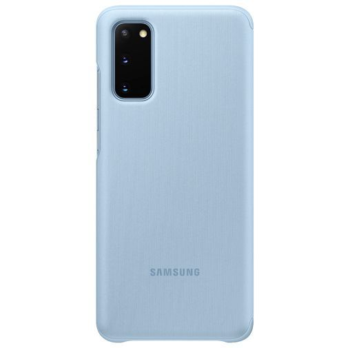 Productafbeelding van de Samsung Clear View Cover Blue Galaxy S20