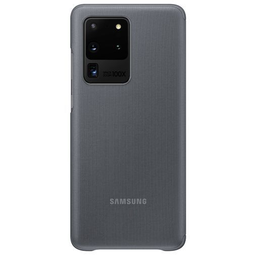 Productafbeelding van de Samsung Clear View Cover Grey Galaxy S20 Ultra