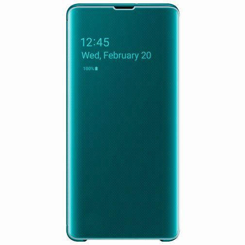 Productafbeelding van de Samsung Clear View Cover Green Galaxy S10+