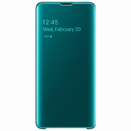 Productafbeelding van de Samsung Clear View Cover Green Galaxy S10