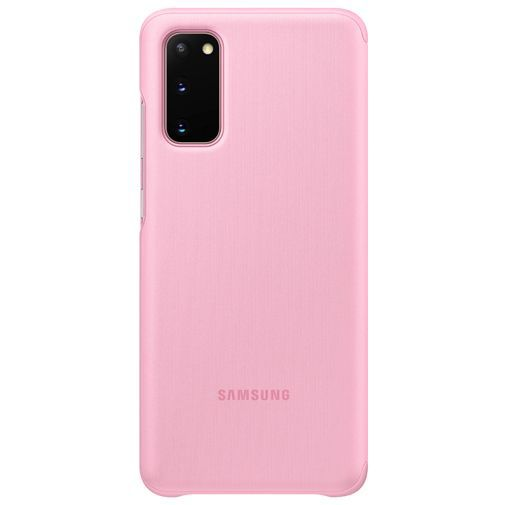 Productafbeelding van de Samsung Clear View Cover Pink Galaxy S20