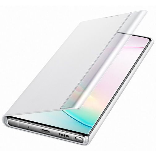 Produktimage des Samsung Clear View Cover Weiß Galaxy Note 10+