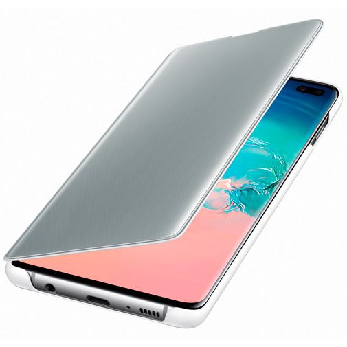 Produktimage des Samsung Clear View Cover Weiß Galaxy S10+