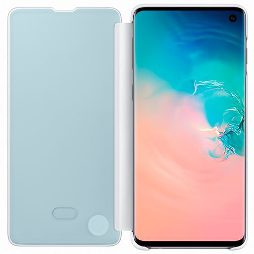 Produktimage des Samsung Clear View Cover Weiß Galaxy S10