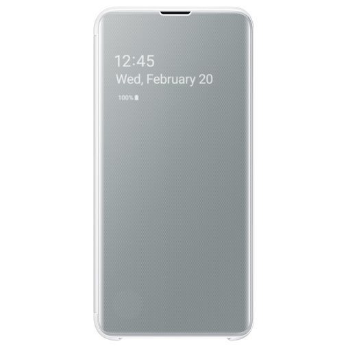 Productafbeelding van de Samsung Clear View Cover White Galaxy S10e