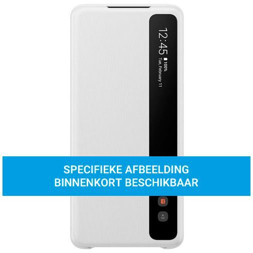 Productafbeelding van de Samsung Clear View Cover White Galaxy S20 Ultra