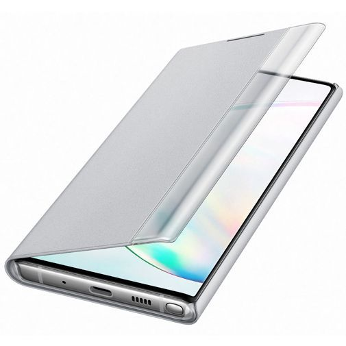 Productafbeelding van de Samsung Clear View Cover Silver Galaxy Note 10