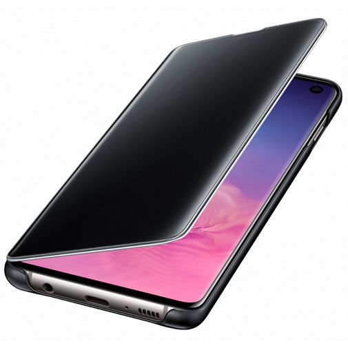 Produktimage des Samsung Clear View Cover Schwarz Galaxy S10 G973