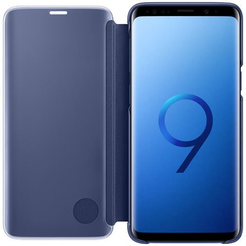 Productafbeelding van de Samsung Clear View Standing Cover Blue Galaxy S9