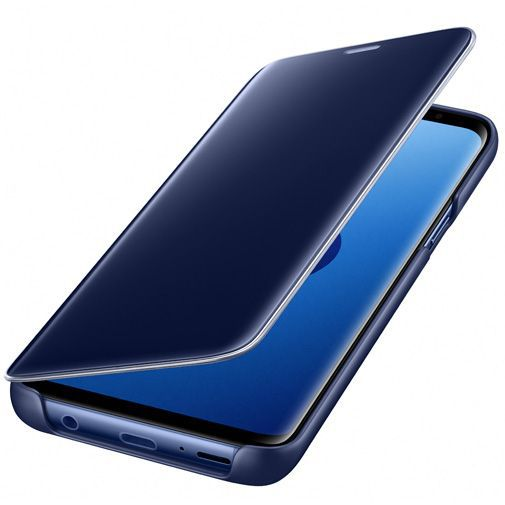 Produktimage des Samsung Clear View Standing Cover Blau Galaxy S9