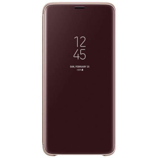 Productafbeelding van de Samsung Clear View Standing Cover Gold Galaxy S9+