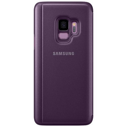 Produktimage des Samsung Clear View Standing Cover Lila Galaxy S9