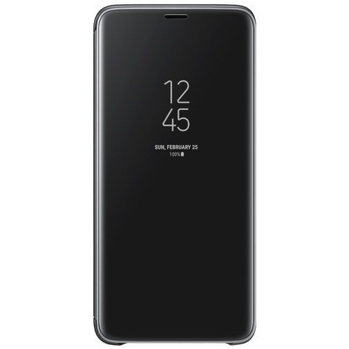 Productafbeelding van de Samsung Clear View Standing Cover Black Galaxy S9+