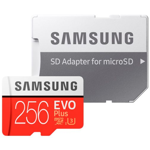 Productafbeelding van de Samsung Evo+ microSDXC 256GB + SD-Adapter (2020)