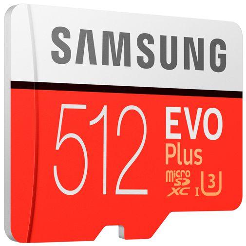 Productafbeelding van de Samsung Evo+ microSDXC 512GB + SD-Adapter (2020)