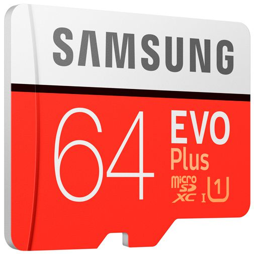 Productafbeelding van de Samsung Evo+ microSDXC 64GB + SD-Adapter (2020)