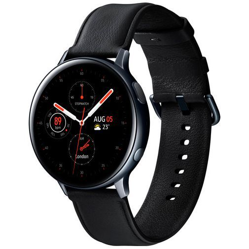 Produktimage des Samsung Galaxy Watch Active 2 44mm SM-R820 Schwarz Stainless Steel