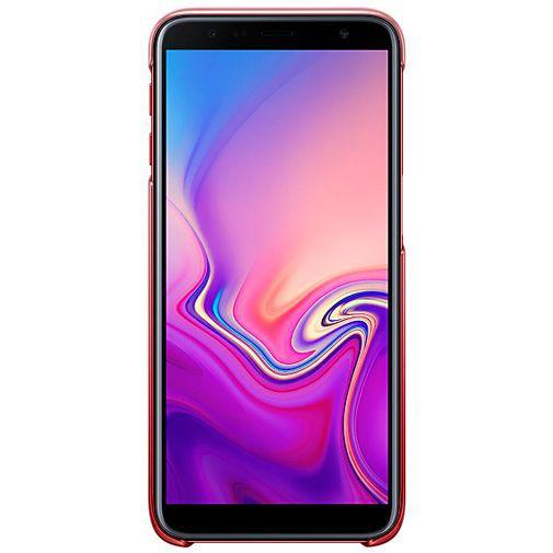 Produktimage des Samsung Gradation Cover Rot Galaxy J6+