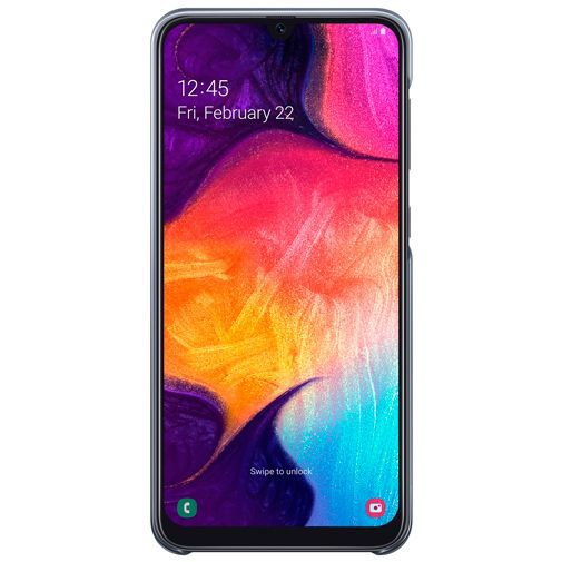 Productafbeelding van de Samsung Gradation Cover Black Galaxy A50