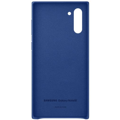 Produktimage des Samsung Leather Cover Blau Galaxy Note 10