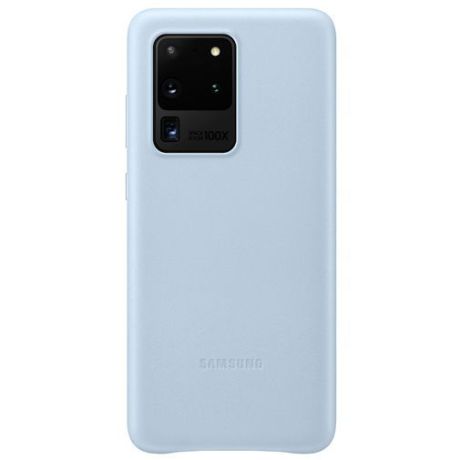 Productafbeelding van de Samsung Leather Cover Blue Galaxy S20 Ultra
